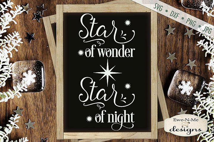 Star Of Wonder - Star of Night - Christmas SVG DXF