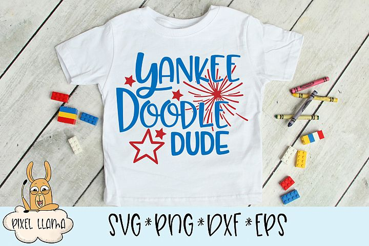 Yankee Doodle Dude SVG Cut File
