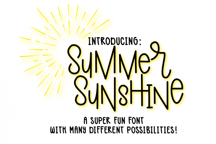 Summer Sunshine Hand Lettered Font