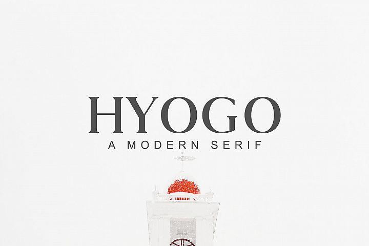 Hyogo A Modern Serif Font Family