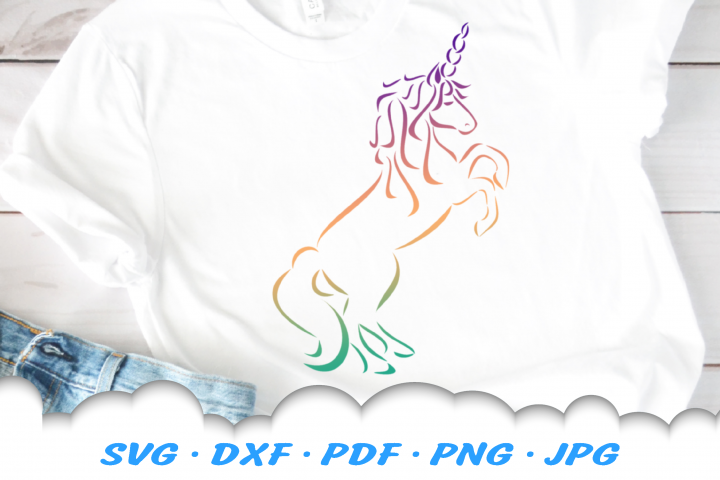 Tribal Unicorn SVG DXF Cut Files