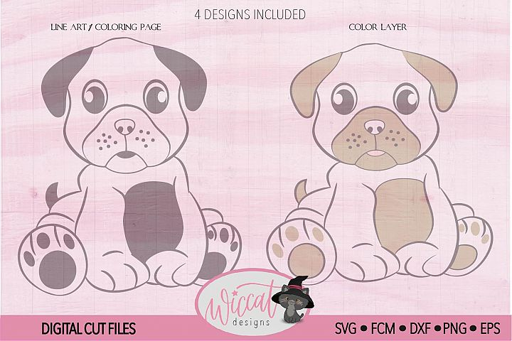 Boy pug svg, Girl pug svg,