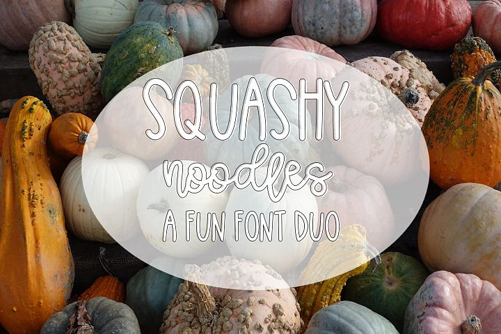 Squashy Noodles - A Fun Font Duo