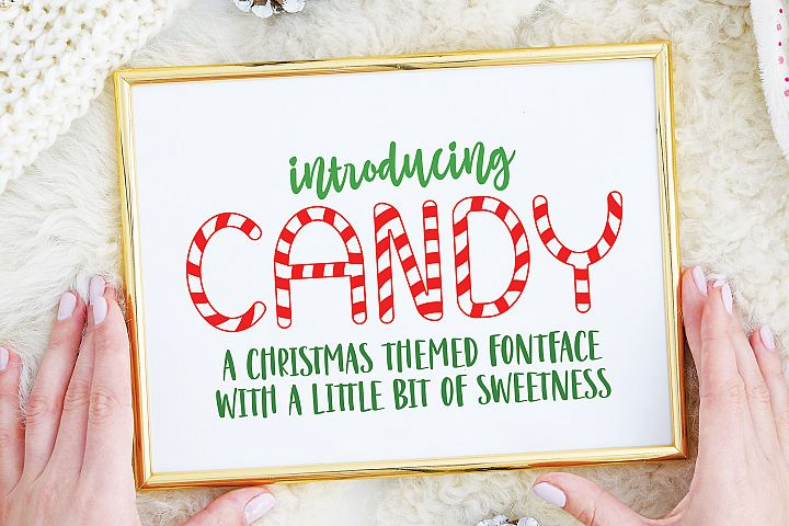 Candy Christmas Font - Christmas Candy Font example