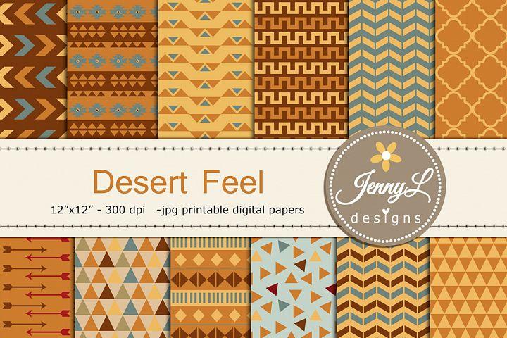Desert Tribal Digital Papers