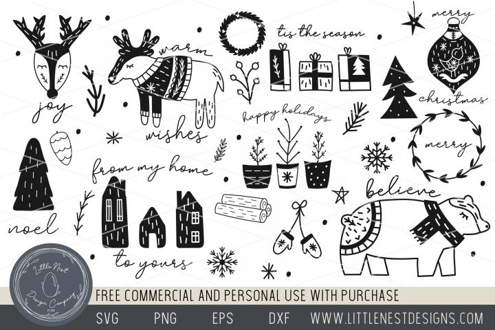 25 Scandinavian Inspired Christmas SVGs Bundle - Boho Xmas
