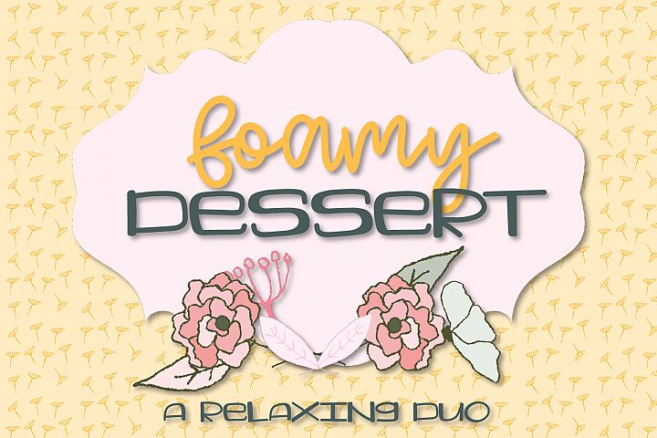 Foamy Dessert - A Southern Inspired Duo