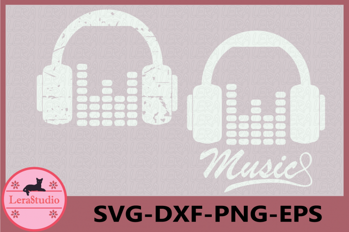Music Svg, Headphones Grunge Svg, Dance SVG Files, Decal