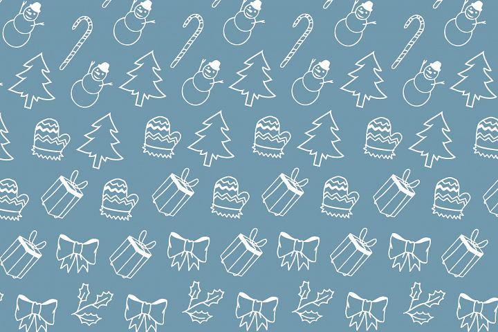 Christmas elements hand drawing pattern