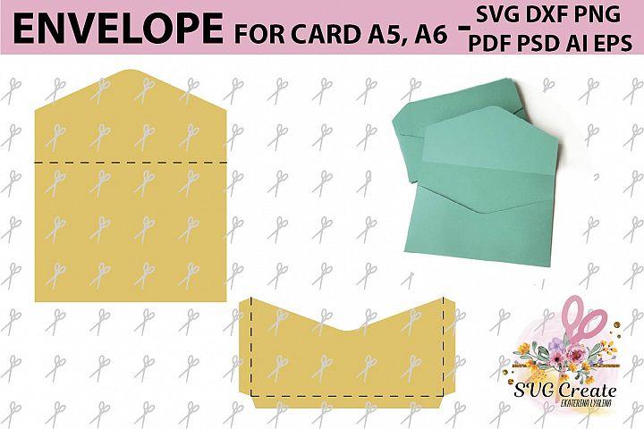 Envelope template, svg printable pdf diy digital