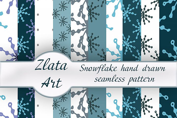 Winter digital paper bag Let it Snow