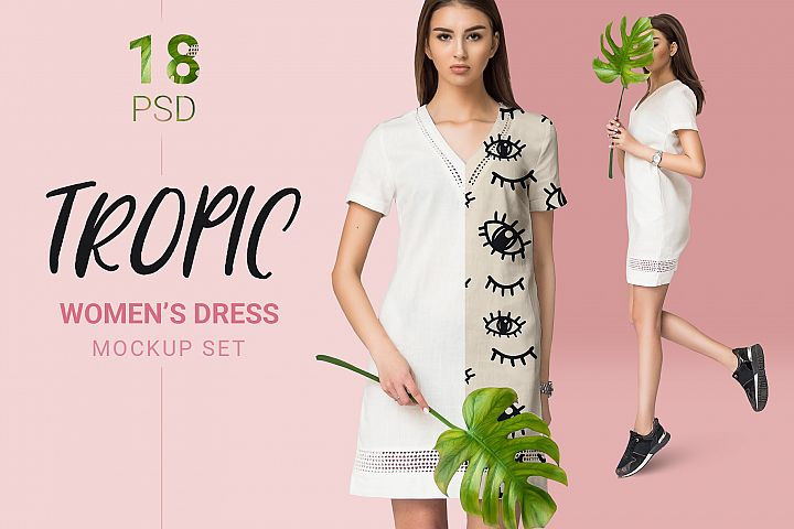 Female dress mockups Free demo