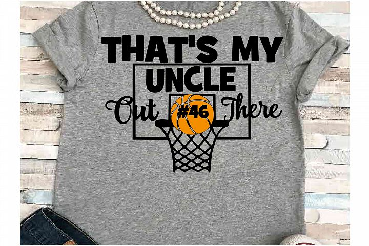 Basketball SVG DXF JPEG Silhouette Cameo Cricut uncle svg