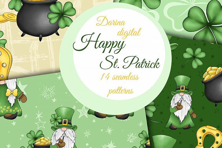 St Patrick gnomes patterns