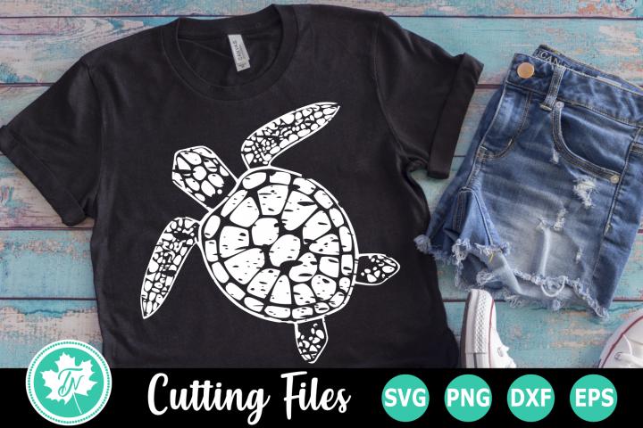 Grunge Sea Turtle - An Animal SVG Cut File