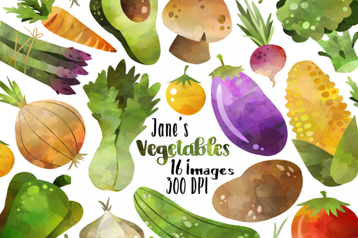 Watercolor Vegetable Clipart