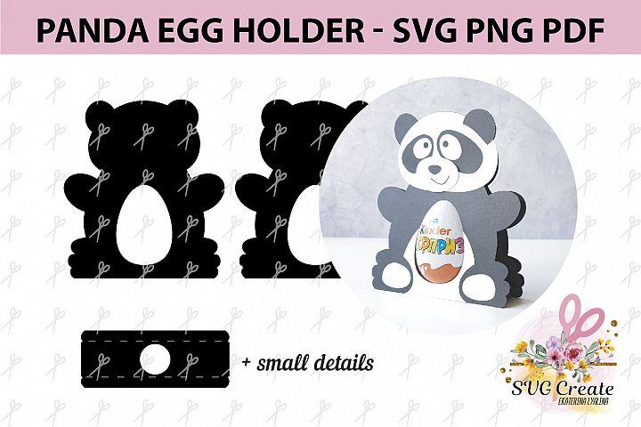 Kinder surprise egg holder, svg cutting file, Panda cut