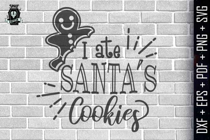 I ate santas cookies Silhouette Vector DXF/EPS/PDF/PNG/SVG