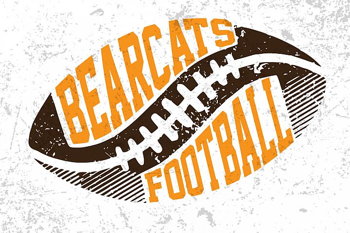 Football Svg ,Bearcats football ,Football design
