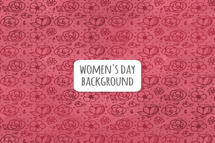 Painted floral womens day seamless background