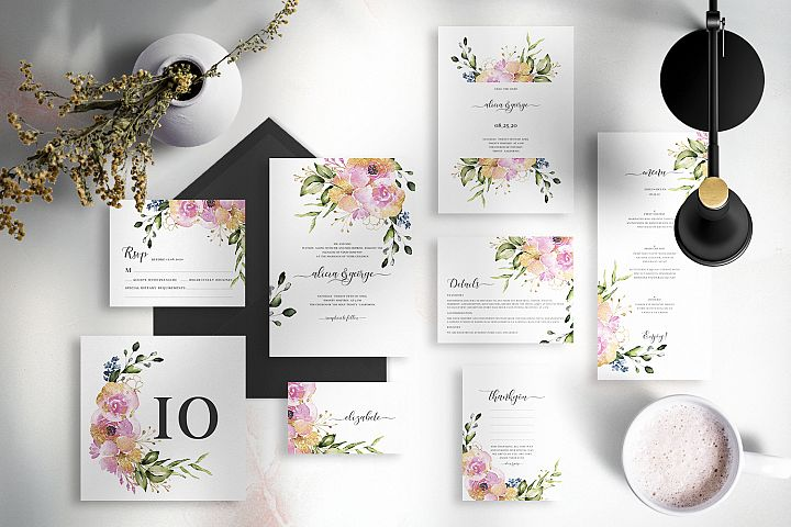 Rose & Gold Floral Wedding Suite