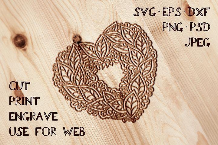 Heart Template SVG EPS AI PSD PNG JPEG