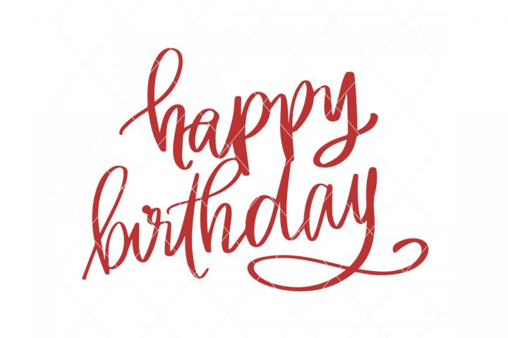 Happy birthday svg, birthday cut file, birthday cake topper