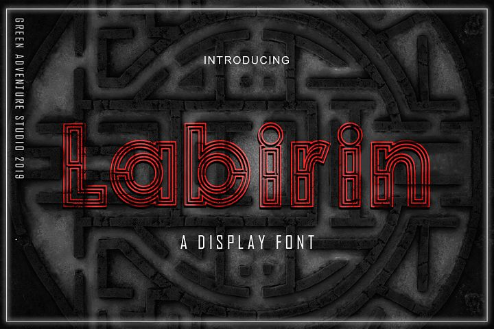 Labirin - A Display Font