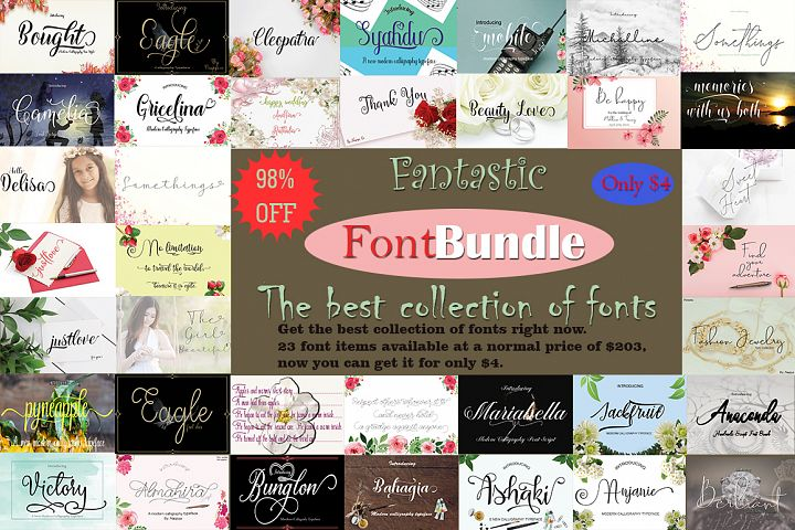 Fantastic FontBundle|the best collection of fonts