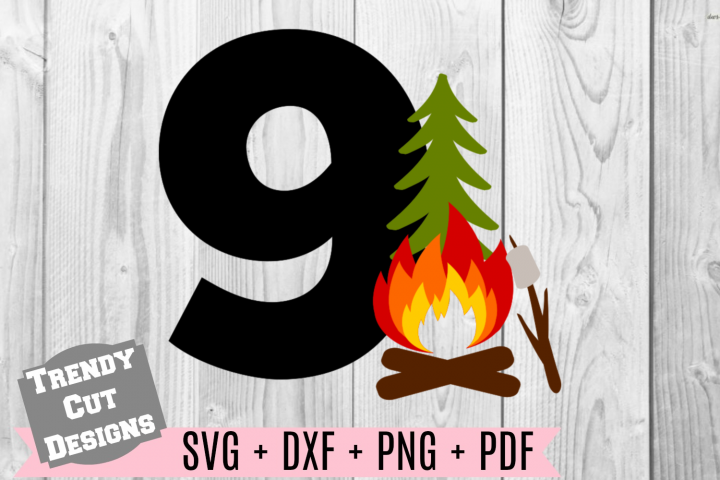 9th Campfire Birthday Set SVG