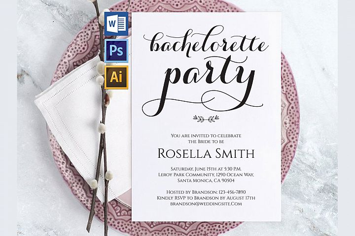 Bachelorette Party Invitations, TOS_50