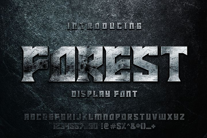 FOREST display font