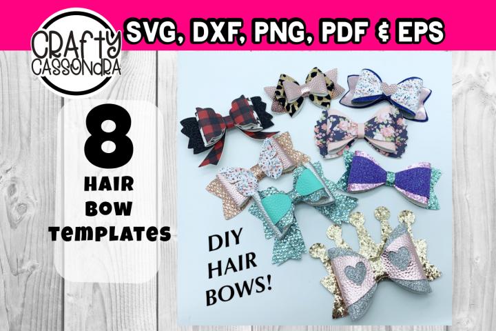Hair bow template bundle #4