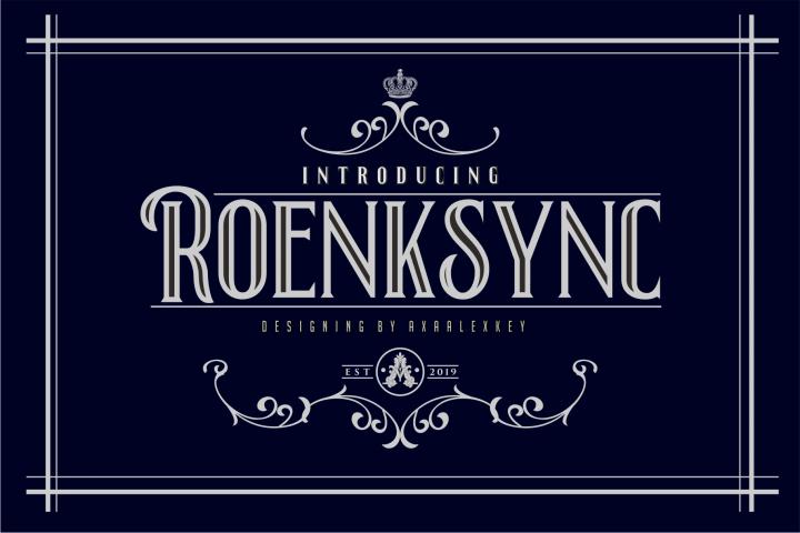 Roenksync Font