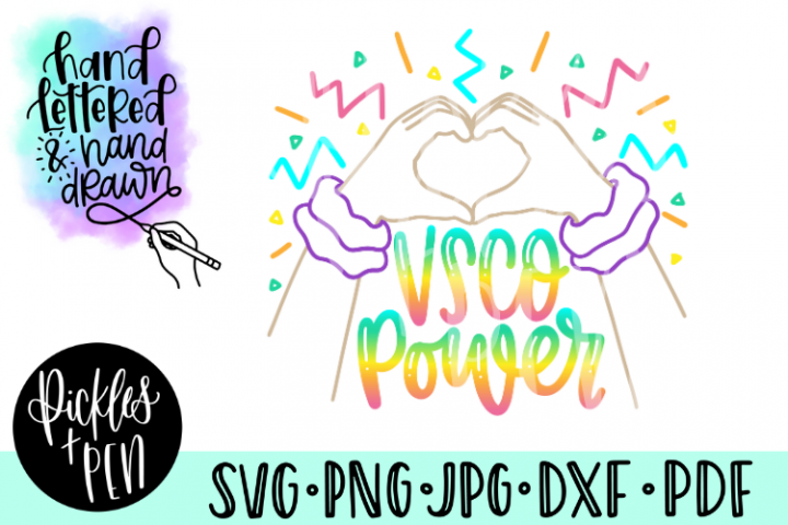 vsco girl svg - vsco power - scrunchie svg