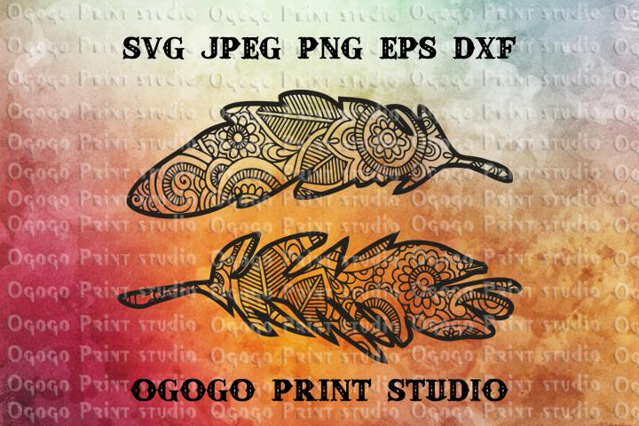 Feather SVG, Zentangle SVG, Plumelet SVG, Native American