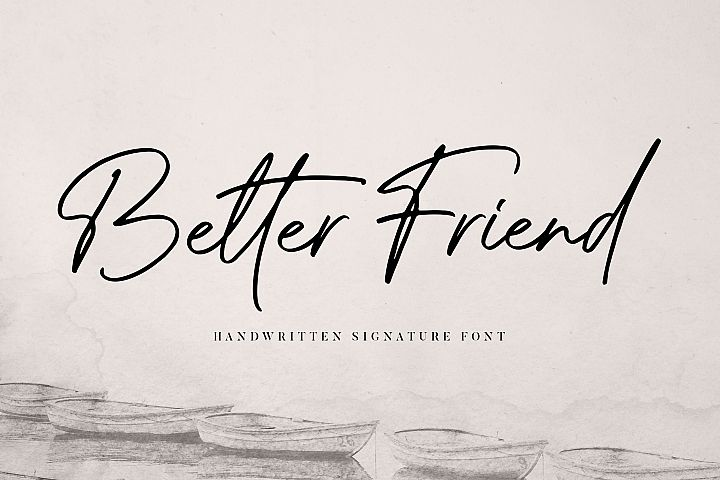 Better Friend Font
