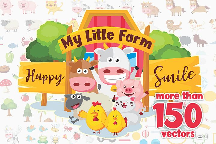 150 Vectors of My Little Farm