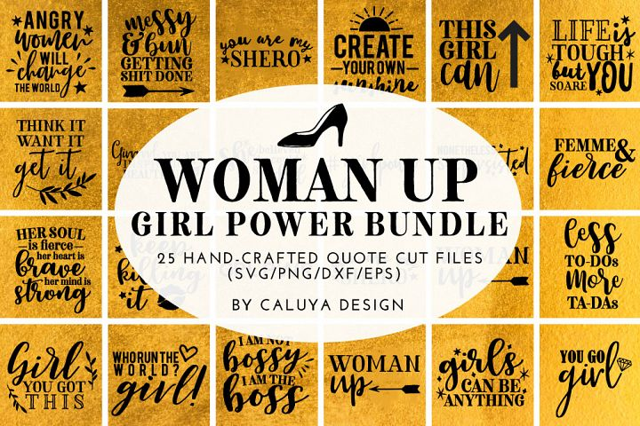 Woman Up Girl Power SVG Cut File Bundle