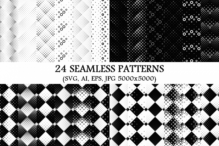 24 Seamless Circle Patterns