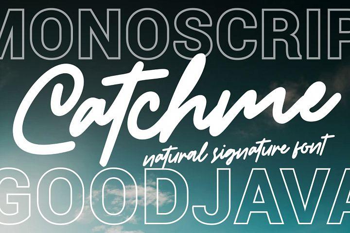 Catchme - Signature Font