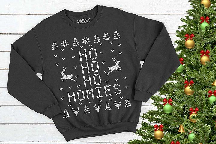 Ho Ho Ho Homies Christmas Printable