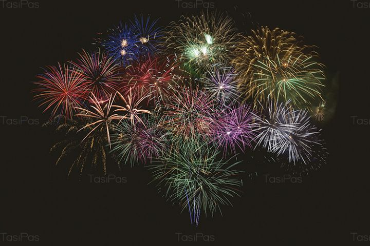 Beautiful celebration multicolored fireworks