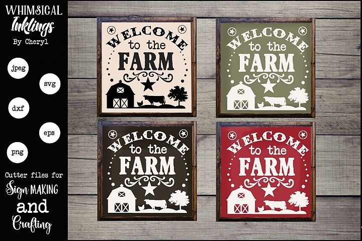 Welcome To The Farm Version 2 SVG