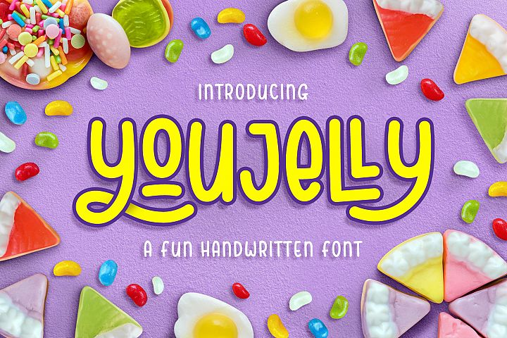 Youjelly - A Fun Handwritten Font