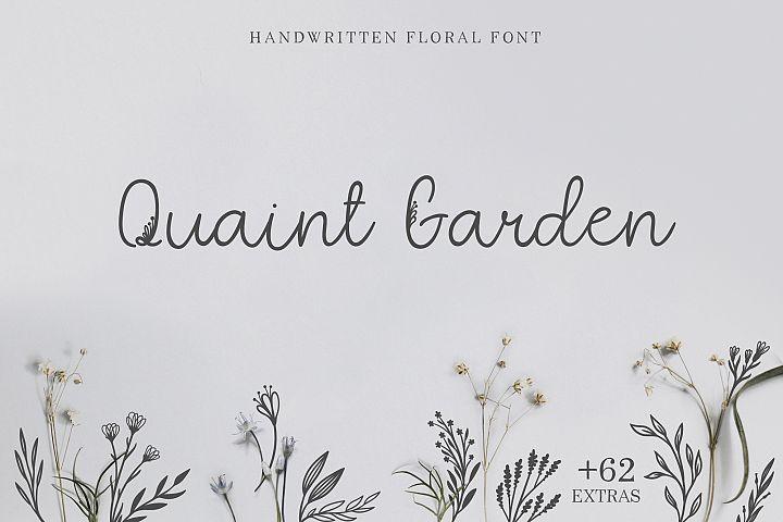 Quaint Garden Floral Font EXTRAS