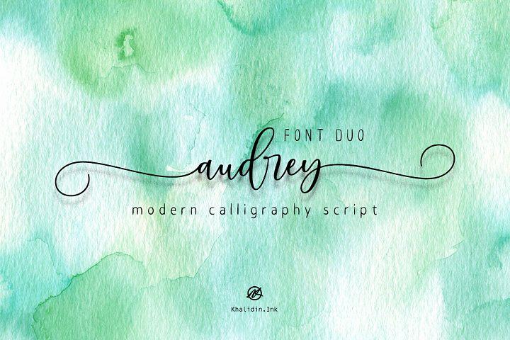 audrey Script | Font Duo