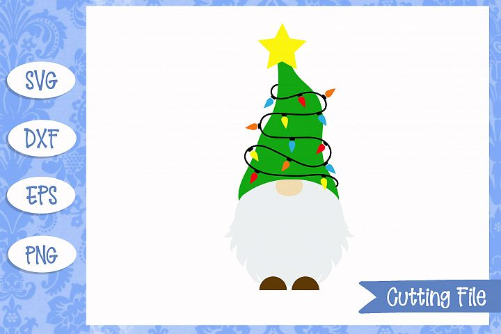 Christmas tree gnome SVG File
