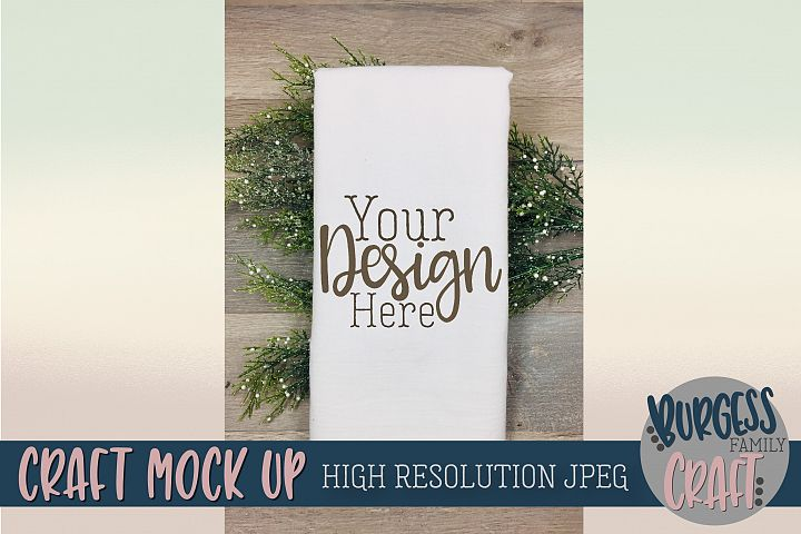 Flour sack tea towel Craft mock up |High Resolution JPEG