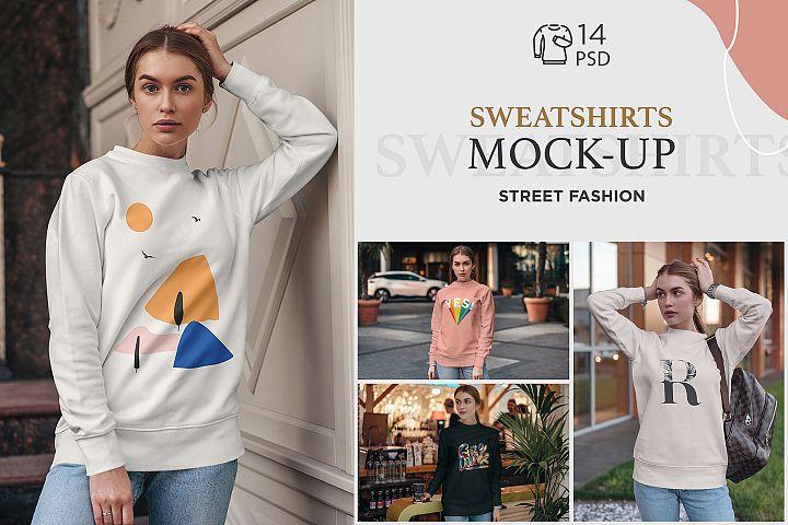 Sweatshirt Mock-Up Street Fashion